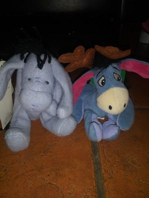 Two Disney Winnie the Pooh Eeyore plush toys for Sale in Lawndale, CA