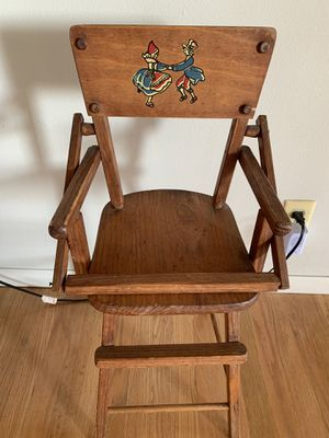 Wooden Doll High Chair for Sale in Downey, CA