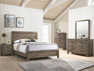 B9200 Millie 4 pcs Queen size Bedroom set Mattress not incluyet for Sale in Downey, CA