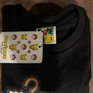 BAPE x Pokemon Mankey Tee #2 Small Black Confirmed Order for Sale in Huntington Beach, CA