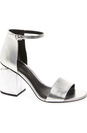 """Authentic Alexander Wang """"Abby"""" silver heel sandals for Sale in Los Angeles, CA"""