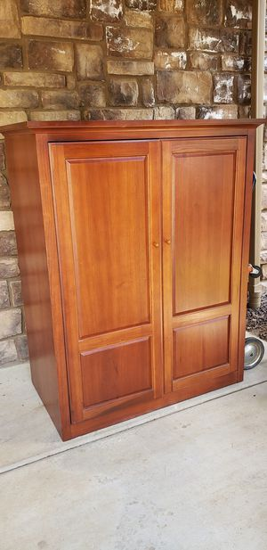 TV Cabinet hutch real heavy wood for Sale in Lakeside, AZ
