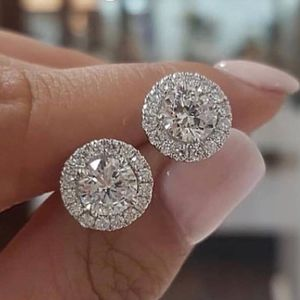 White Gold Round Cut White Topaz 0.25CT Diamond Stud Earrings Wedding Party Jewelry Gifts. Moissanite Diamond Studded! for Sale in San Diego, CA