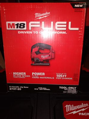 MILWAUKEE M18 FUEL JIG SAW BRUSHLESS TOOL ONLY NEW $145 for Sale in Chula Vista, CA