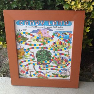 Framed Chutes N Ladders and Candyland Classic Game Boards for Sale in Sacramento, CA