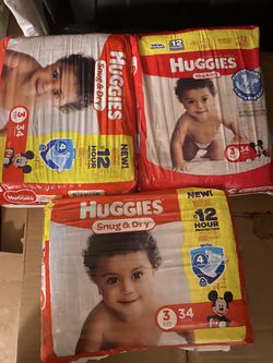 Size 3 huggies for Sale in Salinas,  CA