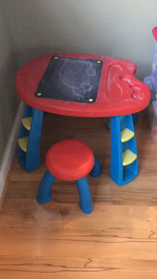 Kids table with chalk board