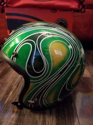 Bell Custom 500 Open Face Motorcycle Helmet Vintage Chem Candy Mean Green Size S for Sale in New York, NY