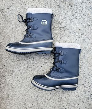 Sorel Yoot Pac waterproof leather snow boots. Kids' Size 5 for Sale in Quincy, MA