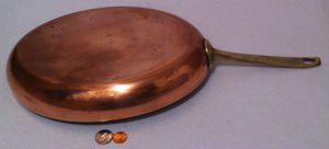 """Vintage Metal Copper and Brass Cooking Pan, Fish Pan, Paul Revere, Quality Copper, Made in USA, 19"""" Long and 12"""" x 8 1/2"""" Pan Size, Heavy Duty Quality for Sale in El Cajon, CA"""