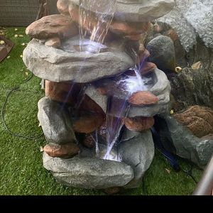 Rock Style Fountain With Lights for Sale in Commerce, CA