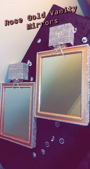 Rose Gold Perfume Bottle mirrors custom made by Me for Sale in Montgomery, AL