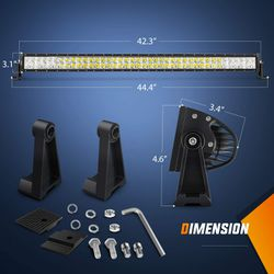 LED Light Bar Nilight 42Inch 240W  Spot Flood Combo LED Driving Lamp Off Road Lights LED Work Light for Trucks Boat Jeep Lamp, for Sale in Los Angeles,  CA
