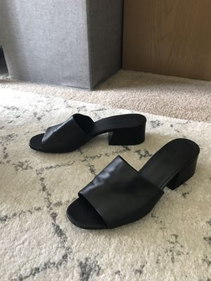 Vince Black Leather Mules - Women Size 8 for Sale in Illinois City, IL
