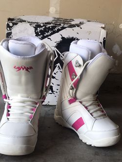 White Lamar Womens Snowboard Boots for Sale in West Sacramento,  CA