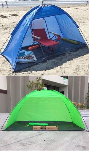 Brand new in box Large 7x3 feet Beach Tent Sun Shade Camping Park Shelter Umbrella with Carrying Bag for Sale in Montebello, CA