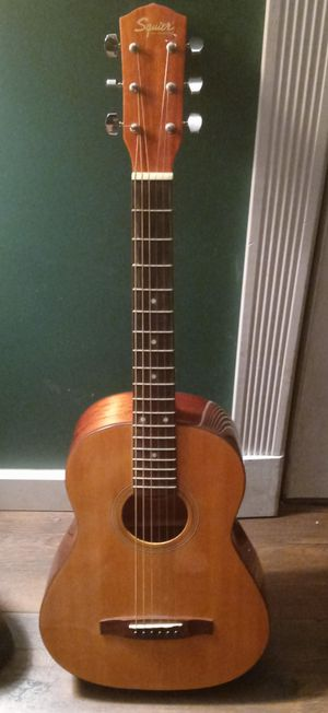 Squier by Fender guitar + case for Sale in Florissant, MO