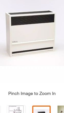 williams direct-vent gravity wall heater 22,000 btuh, 67% afue, natural gas for Sale in Phoenix,  AZ
