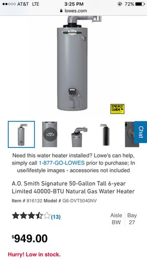 Gas water heater NEW for Sale in Mint Hill, NC