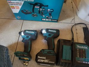 New 18v Brushless Makita 1/2 wrench and impact drill with Box for Sale in Brandon, FL