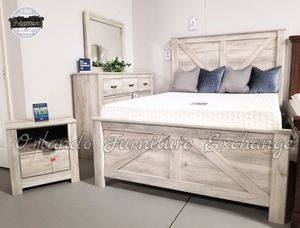 $779 FREE DELIVERY! BRAND NEW QUEEN BED FRAME DRESSER AND MIRROR for Sale in Oviedo, FL