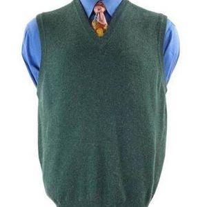 CLAN DOUGLAS Sz. X-Large Sweater Vest 100% Cashmere Forest Green for Sale in Bellevue, WA