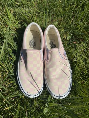 pink & white checkered vans for Sale in Seattle, WA