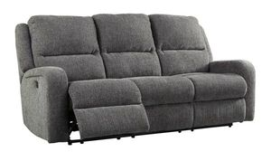 Krismen charcoal power reclining sofa couch with power headrests for Sale in Phoenix, AZ