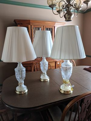 Set of lead crystal lamps for Sale in Saint Charles, MD