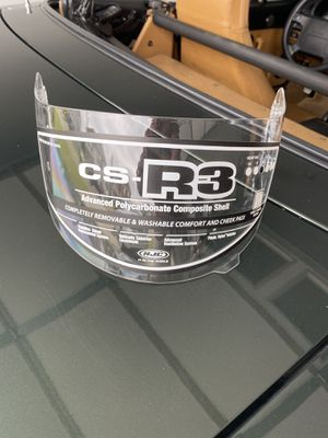 CS-R3 motorcycle helmet visor CLEAR for Sale in Murfreesboro, TN