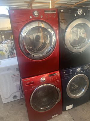 front load gas washer and dryer with 3 months warranty free delivery and installation for Sale in Oakland, CA
