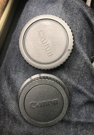 Original canon Lens rear cap and body cap for Sale in Daly City, CA