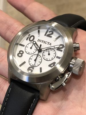 $695- Invicta Men's Solid Stainless Steel White Face Chronograph Watch Authentic for Sale in Queens, NY