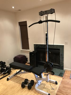 Body Solid bench with free lat pull down for Sale in Fairfax, VA