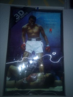 3D 11× 17 POSTER MUHAMMAD ALI VS SONNY LISTON 25TH MAY 1965 FIRST MINUTE. FIRST ROUND for Sale in Tempe, AZ