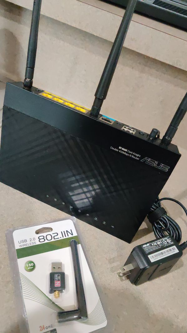 Internet Wireless Router and USB Wireless Receiver, Excellent Condition, $40