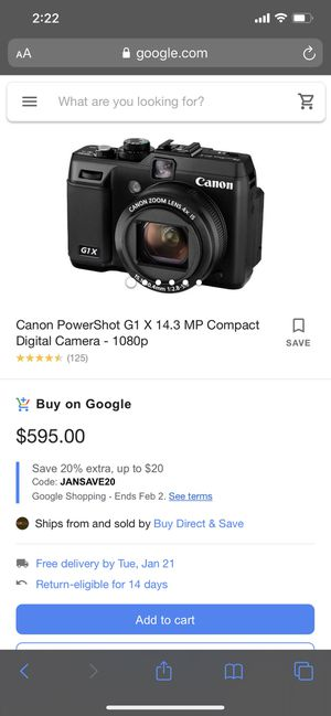 CANON POWERSHOT G1X DIGITAL CAMERA with 2 Tripods for Sale in Pompano Beach, FL