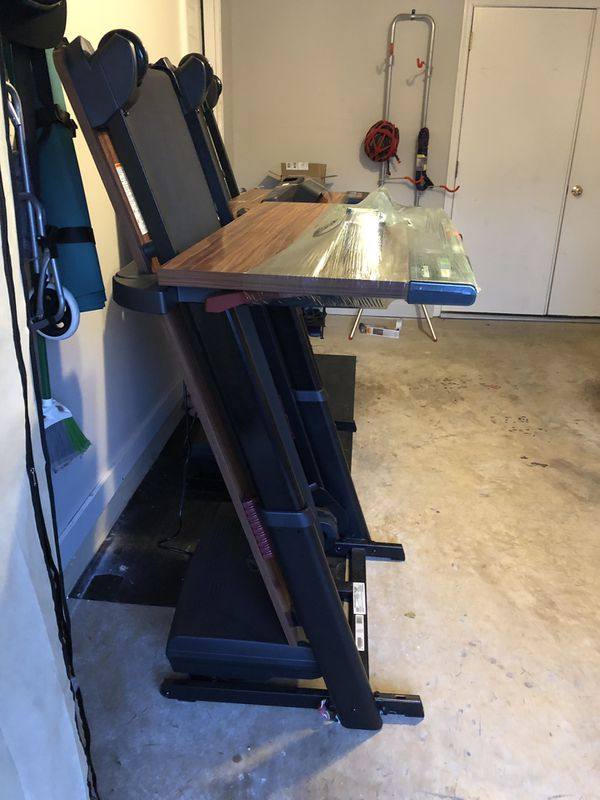 NordicTrack treadmill office desk