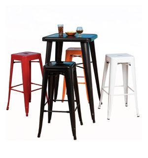 FDW Counter Height Bar Stools Set of 4 Metal Bar Stools Industrial Metal Stool Patio Furniture 24 Inches Kitchen Counter Stool Indoor/Outdoor Stool M for Sale in Duluth, GA