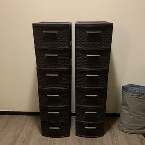 Sterilite 3 Drawer Plastic Storage Drawers for Sale in Mercer Island, WA