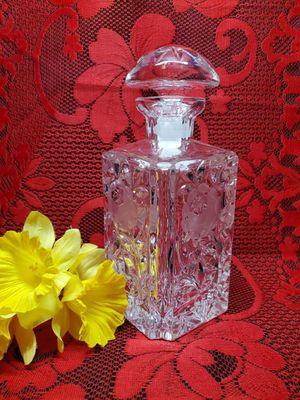 Antique American Brilliant Cut Glass Whisky Decanter - Floral W/ Stem Design for Sale in Austin, TX