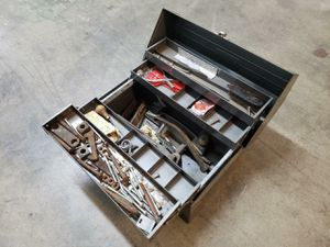 Vintage Craftsman #65351 Metal Cantilever Tool Box & Extra Accessories for Sale in Glenview, IL