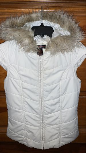Puffy Vest with Fur Hood for Sale in Decatur, GA