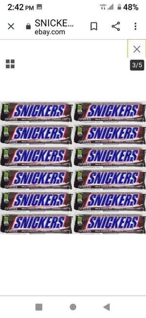 12- Snickers Regular Size Candy Bars for Sale in PT ORANGE, FL
