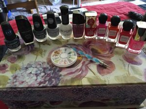 Assorted Nail Polishes And Nail Art for Sale in Fresno, CA