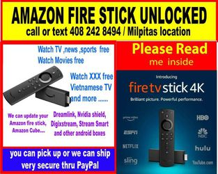 Get The 4k Amazon Fire Stick Today ,,best For Movies And More for Sale in Milpitas,  CA