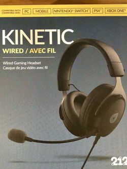 BRAND NEW FACTORY SEALED 212 Kinetic Wired Headset for Xbox X/S, PS4, PS5, Switch, PC for Sale in The Bronx,  NY