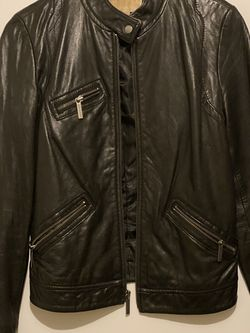 Michael kors Leather Moto Jacket Size Medium for Sale in Douglasville,  GA