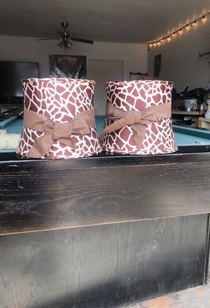 2 small leopard lamp shades for Sale in El Paso, TX