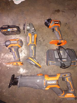 Ridgid Octane and Gen5X 18V Tools Set for Sale in Bell Gardens, CA